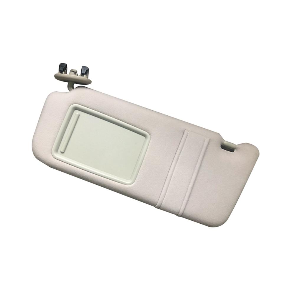 Pare-soleil latéral gauche avec miroir pour Toyota Camry 2007-2011 pare-soleil gauche maquillage miroir conseil pilote Beige pare-soleil
