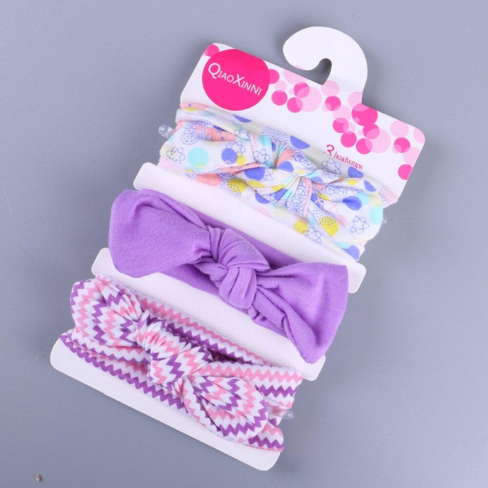 3 шт., эластичная Детская повязка на голову с милым цветочным бантом, детские повязки на голову для девочек, аксессуары для волос с кроличьим...