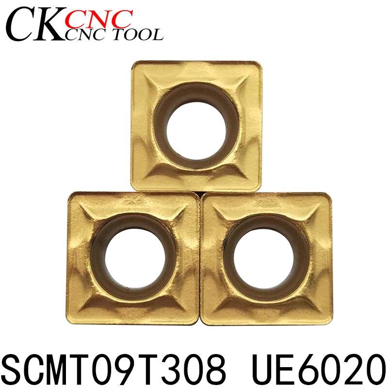 10pcs SCMT09T308 UE6020 CNC Lathe Dedicated Blade CNC Tool Carbide Inserts  High Quality CNC Lathe Carbide