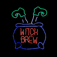 Neon Sign Light Plate Witch Legs Shape Design Night Lamp Wall Light For Coffee Bar Mural