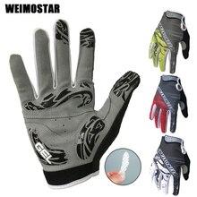 Weimostar противоударные велосипедные перчатки с гелевой подкладкой, велосипедные перчатки для мужчин, велосипедные перчатки на полный палец, женские MTB гоночные перчатки, брендовые белые