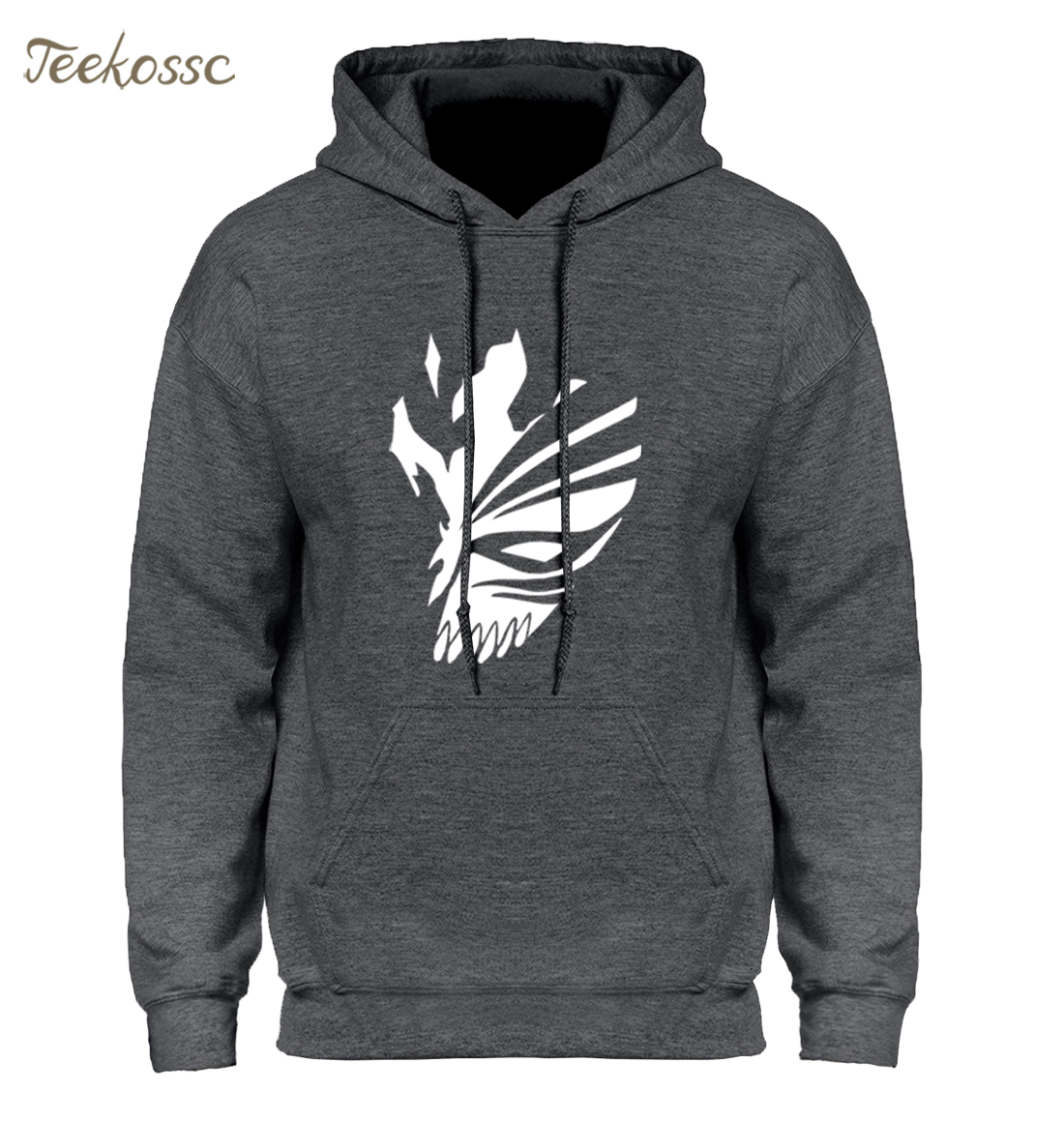 BLEACH Kurosaki Ichigo Hoodies Men Hip Hop Fleece Warm Hooded Sweatshirt Japanese Anime Harajuku Sweatshirts Face Hoodie Male