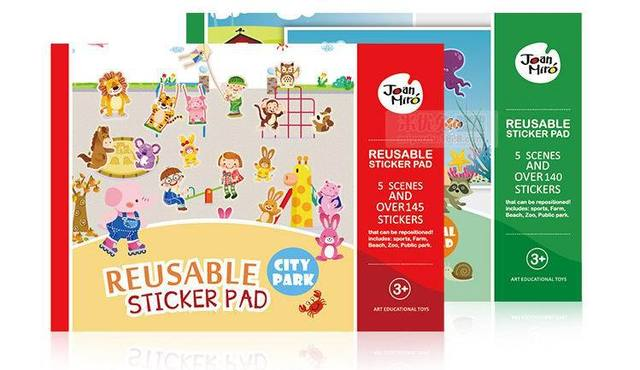 Baby Reusable Stickers Pad With Over 140pcs Stickers And 5 Scenes