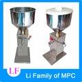 Machine de remplissage liquide de pâte liquide manuelle de remplisseur liquide d'acier inoxydable de machine de remplissage liquide de pression de main de nourriture visqueuse