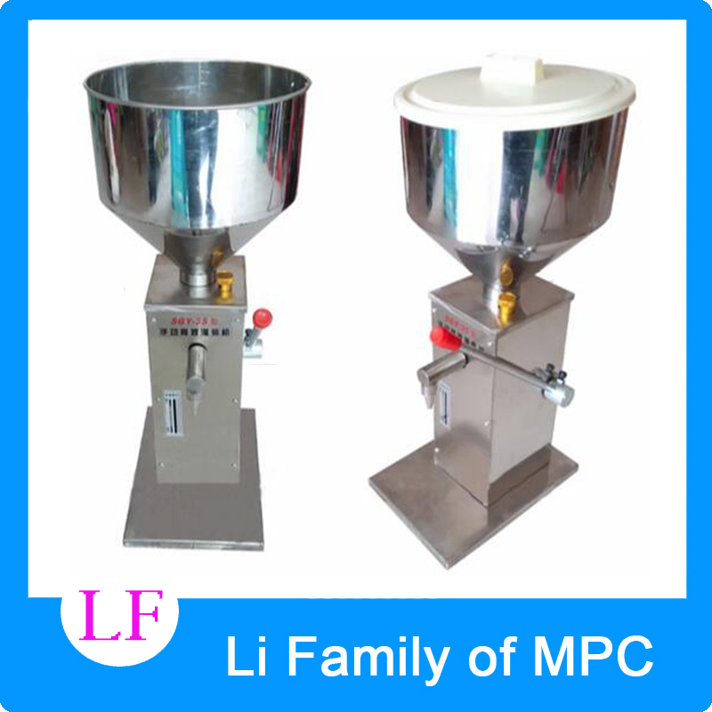 Viscous food hand pressure liquid filling machine stainless steel liquid filler manual liquid paste filling machine stainless steel liquid filling machine adjustable foot quantitative perfume filling machine cfk 160