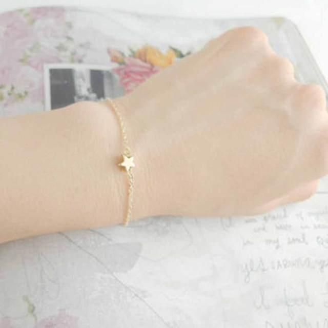 Star Pendant Charm Bracelet