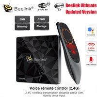 Beelink GT1 Ultimate Android 7.1 TV Box Amlogic S912 Octa Core CPU 3G RAM 32G ROM Bluetooth 4.0 FHD 4K Set Top Box Media Player