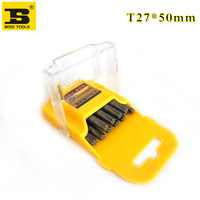 4 2 10Pieces 1/4 Inch Hex Shank T27 Torx Security Head Screwdriver Drill Bits 2 Inch Length S2 Steel (1)