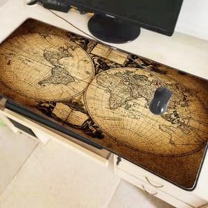 Image 2 - Mairuige ישן מפת העולם גדול משחקי מנעול קצה מחצלת עכבר מקלדת משטח שולחן מחצלת שולחן מחצלת גיימר משטח עכבר מחשב נייד מחברת Lol
