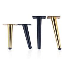 2 pièces pieds de meuble en acier inoxydable meuble TV pied canapé jambe matériel armoire pieds 15CM 20CM 25CM 30CM jambe conique avec vis