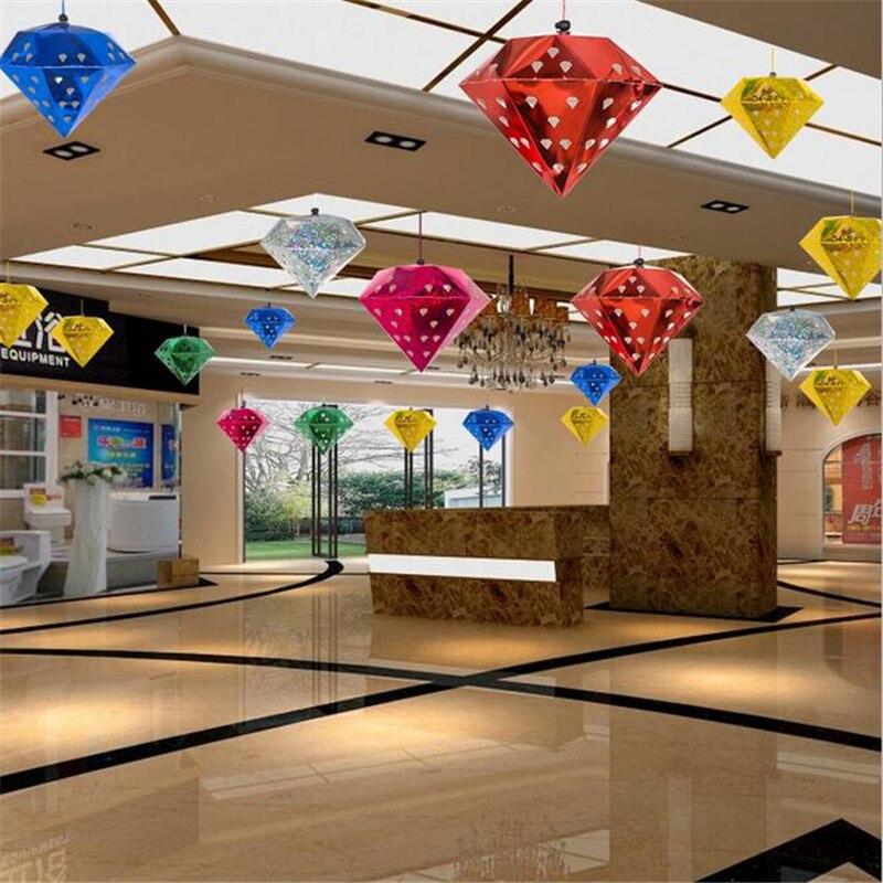 5pcs 2016 Three Dimensional Laser Pentagram Bar Ceiling Decoration
