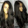 Glueless Шелковый Топ Полный Парик Шнурка Девы Бразильские Волосы 4x4 Шелк База парик Объемная Волна Шелковый Топ Кружева Передние Человека Парики Для Чернокожих Женщин