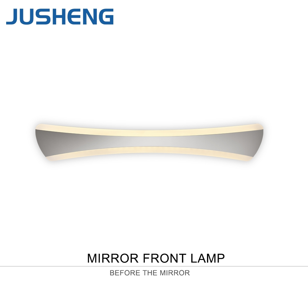 JUSHENG Stylish LED Acrylic Wall Lamps Indoor Modern Sconce Lights in Bathroom Top Mirror Lighting Fixtures 42cm - 55cm Long все цены