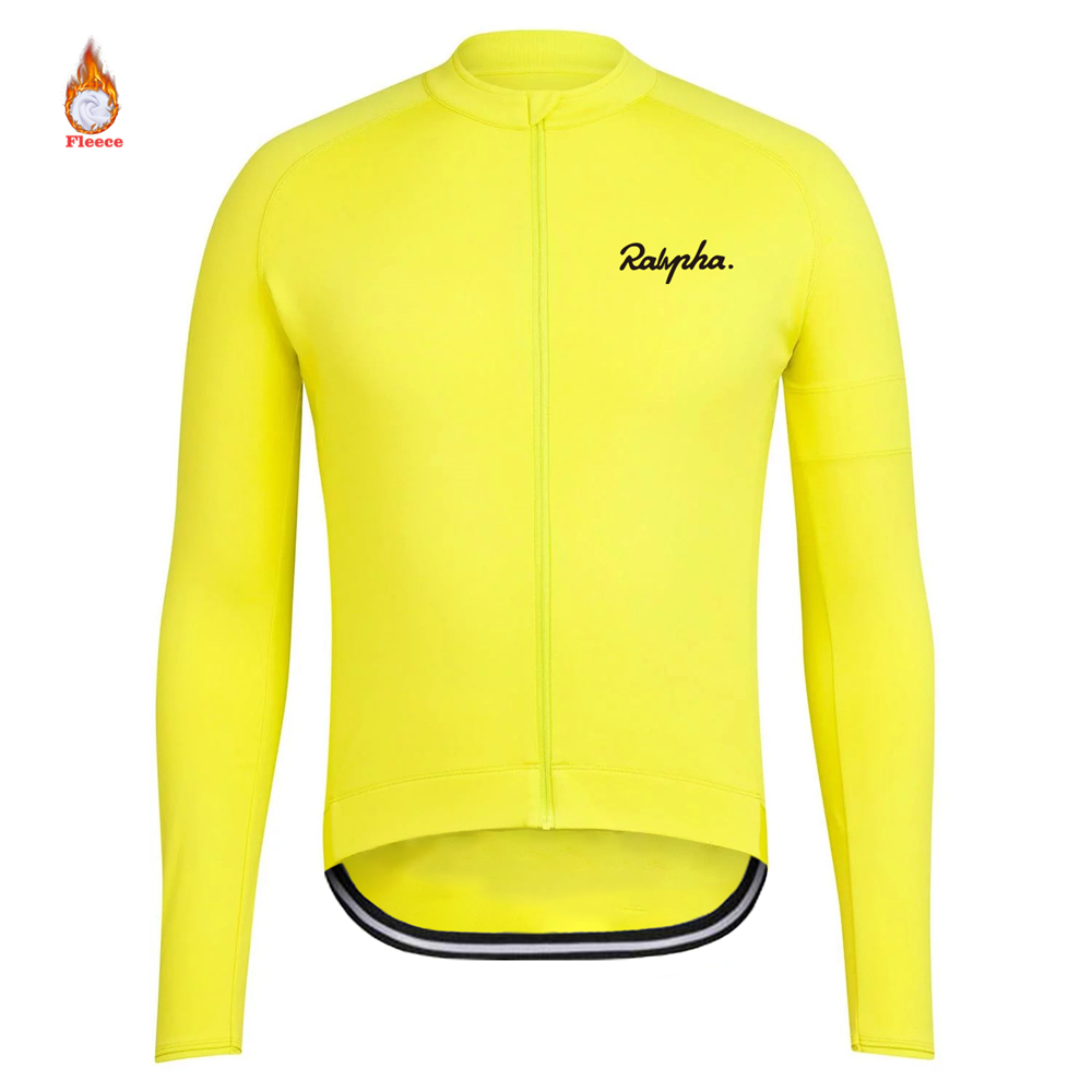 2019 Winter Thermal Fleece Males Bicycle Lengthy Sleeve Biking Jersey Clothes Professional Group Outside Mountain Highway Uniform Bike Triathlon