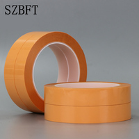 20pcs 20mm SZBFT Orange PET high temperature single sided tape No residue removable orange tape fax printer tape 66 meters
