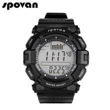 SPOVAN Men's Digital Sports Watch Outdoor Wristwatch Waterproof, Fishing Remind/Weather Forecast/ LED Backlight/Stopwatch SPV706