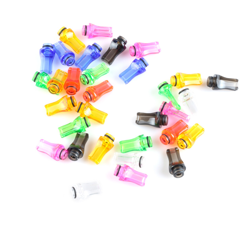 Electronic Cigarette Large Hole Mouthpiece Colorful Plastic 510 Drip Tip For 901 808 Atomizers And Cartomizers 10pcs Lot In