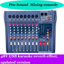 лучшая цена professional Mt82cx-usb 8 microphone channel mixer ktv karaoke MP3 USB 48V Sound Mixing Console