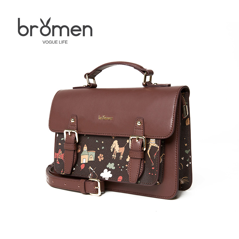 купить BROMEN Crossbody Bags for Women Pvc Leather Handbags Vintage Mini Shoulder Bags Famous Brand Bolso Mujer Flap Ladies Hand Bag недорого
