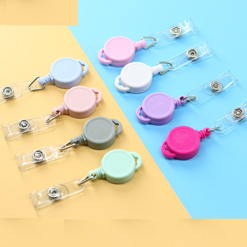 One Pcs ID Card Holder Badge Reel Oyster Security Retractable Photo Identity Pass Badge Students Nurse Holder & Accessories
