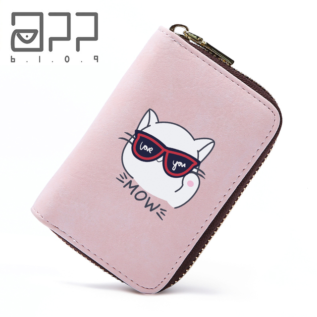 ebef7f768e7e5 APP BLOG Brand Cute Cool Cat Credit Card Holder 11 Bits Business Card  Holder Women Girls Boy Cards Bag Case Porte Carte Wallet