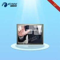 ZB120TC-V592/12 pouce 1024x768 HD mural boîtier métallique HDMI VGA USB Multi-fonction résistance tactile moniteur LCD écran d'affichage