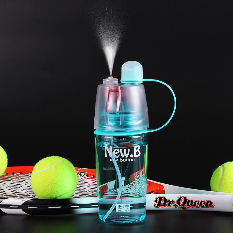 2019 New Arrival Plastic Water Bottle with Nozzle for Tour Outdoor 400ML 600ML My Bottles Drinkware Blue Pink Green Hot Selling