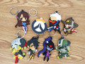 200pcs Over game of watch Silicone phone chain doll no repeat 8cm OW Over the watch online game action figure toy for player