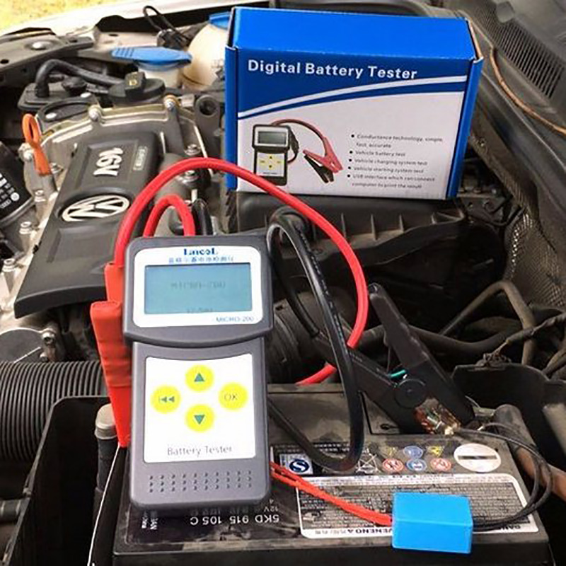 Lansl MICRO200 цифровой тестер батареи 12 В тестер емкости батареи CCA автомобильный инструмент для диагностики батарей Анализатор батареи-in Тестеры аккумуляторов from Автомобили и мотоциклы