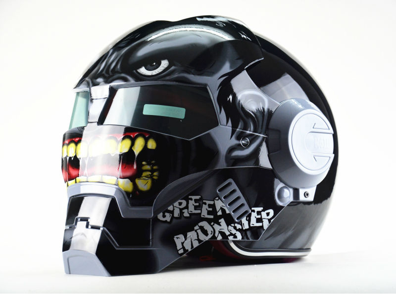 Free shipping Top ABS Moto biker Helmet MASEI Iron Man personality special fashion half  open face  motocross helmet-Gray fire maple sw28888 outdoor tactical motorcycling wild game abs helmet khaki