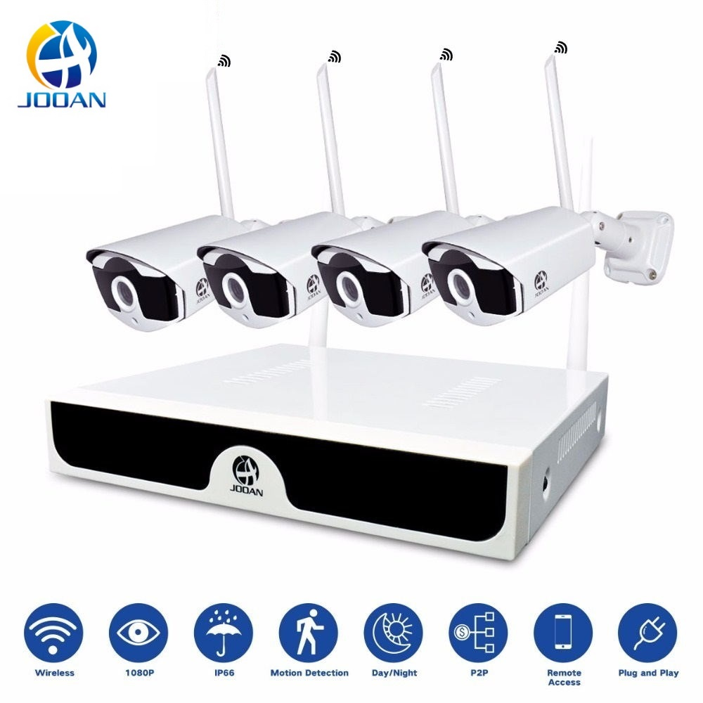 Wireless Video Surveillance H.265 8CH NVR 4CH Cameras Home Security  System DVR Kit IP Camera Outdoor Set HD CCTV System NVR Kit-in Surveillance System from Security & Protection