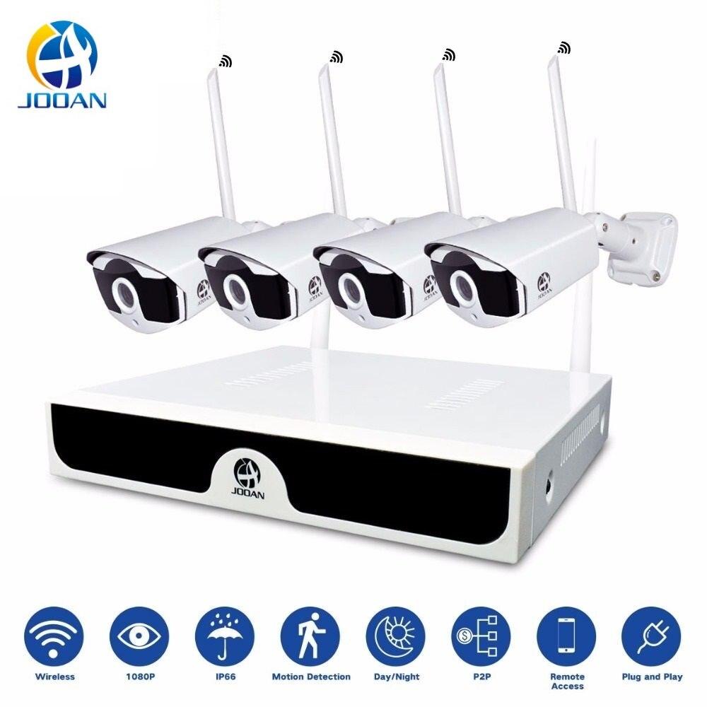 camaras de vigilancia con wifi Kit 4CH Videovigilância NVR 1080 P Câmera IP sem fio Wi-fi Câmera P2P 2MP Sistema de CCTV CCTV Câmera de Vigilância Sem Fio sistema