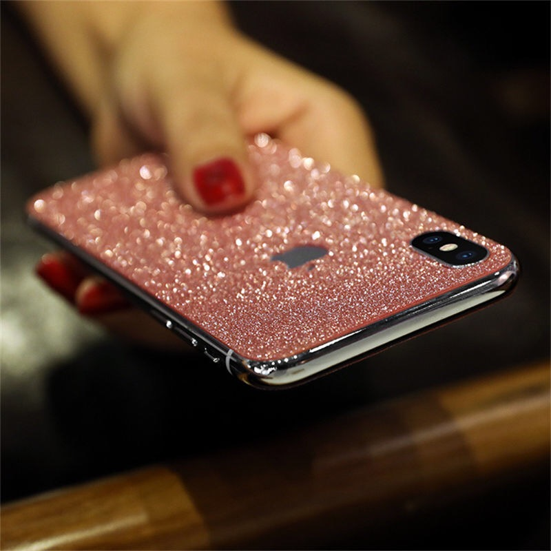 Luxury shiny color Frontand back film for iphone X XS XR max 8 7 6 6s plus shiny Protective film Scratch for apple Proof film in Phone Screen Protectors from Cellphones Telecommunications