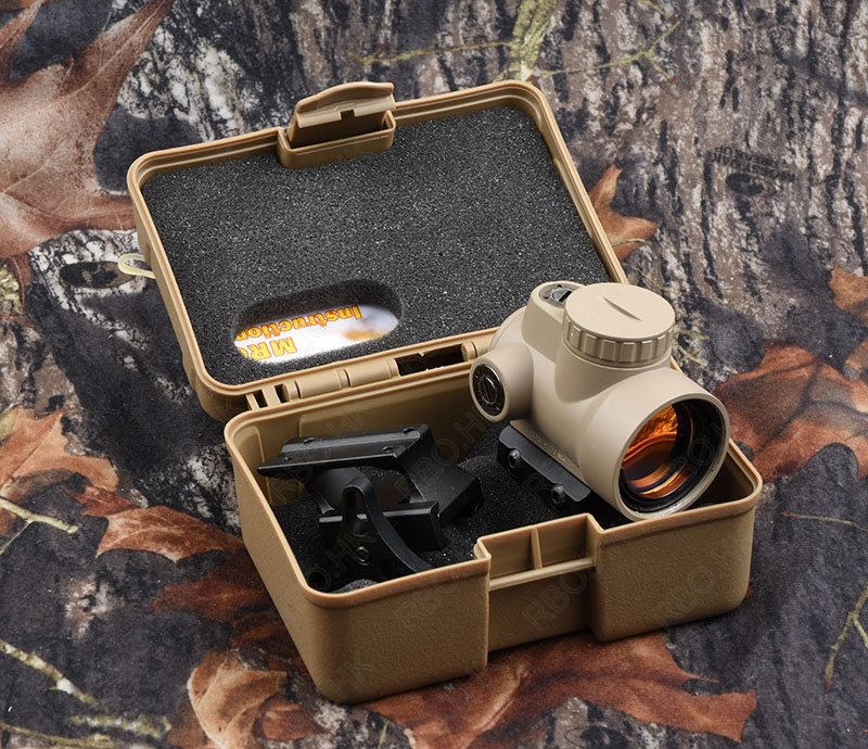 Tactical trijicon mro style 1x Red Dot Sight Scope Increase adatpor Picatinny Mount Tan Hunting Shooting M9500 tactical 1x red dot sight scope qd picatinny rail mount hunting shooting black 558 m7101