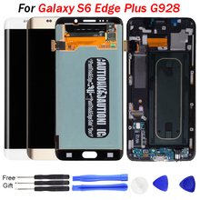 купить S6 Edge Plus LCD display for samsung galaxy s6 edge plus display replacement G928F LCD Display Touch Screen Digitizer Assembly онлайн