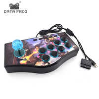 Data Frog Custom Arcade Game Joystick USB Rocker Game Controller For PS2/PS3/PC For Xiaomi/Samsung Android Phone Play Games