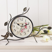 Fashion rustic wrought iron wall clock personalized watches and clocks fashion wall clock mute