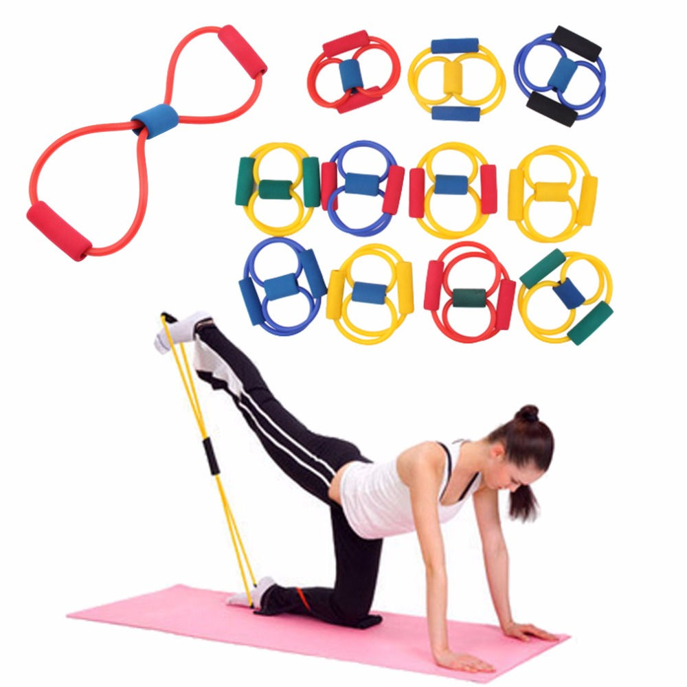 2pc Resistance Bands Band Sport Elastico Para Exercicios Yoga Pilates Abs Exercise Stretch Fitness Equipment Tube Workout Bands Famous For High Quality Raw Materials, Full Range Of Specifications And Sizes, And Great Variety Of Designs And Colors