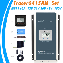EPever Tracer MPPT Solar Charger Controller 60A 12V 24V 36V 48V Auto Backlight LCD Solar Regulator voor Max 150V PV Input 6415AN