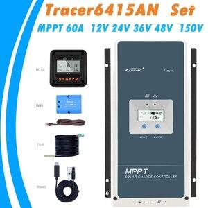 Контроллер солнечного зарядного устройства трассировщик EPever MPPT 60A 12В 24В 36В 48В автоматическая подсветка ЖК-дисплей Солнечный регулятор для ...