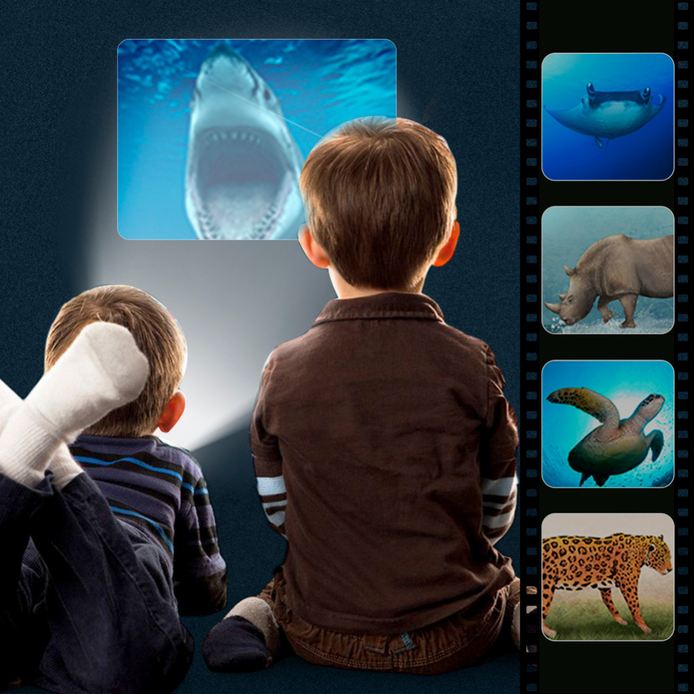 Projector Torch Educational Toy Creative Play Animal Constellation