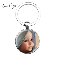 SUTEYI Personalized Photo keychain Custom Key Chain Photo of Your Baby Child Mom Dad Grandparent Loved One Gift for Family Gift