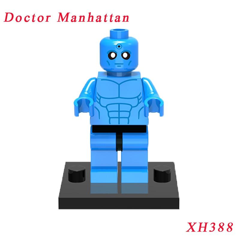 Xh388 Doctor Manhattan Super Heroes Watchmen Dolls Action Figures Single Sale Building Blocks Assemble Toys For Children