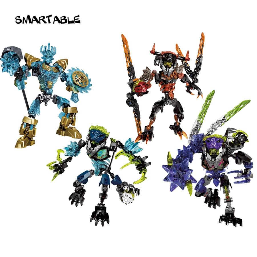 BIONICLE series 4 pcs/set Ekimu Umarak Storm Qurke action figures Building Block Toys For Boy Compatible All Brands BIONICLE|lego bionicle|building blockscompatible lego - AliExpress