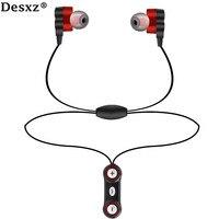 Desxz Hoofdtelefoon oortelefoon Bluetooth draadloze Dual Speaker HD met Mic Headset AptX Sport voor iPhone Android telefoon Oordopjes run