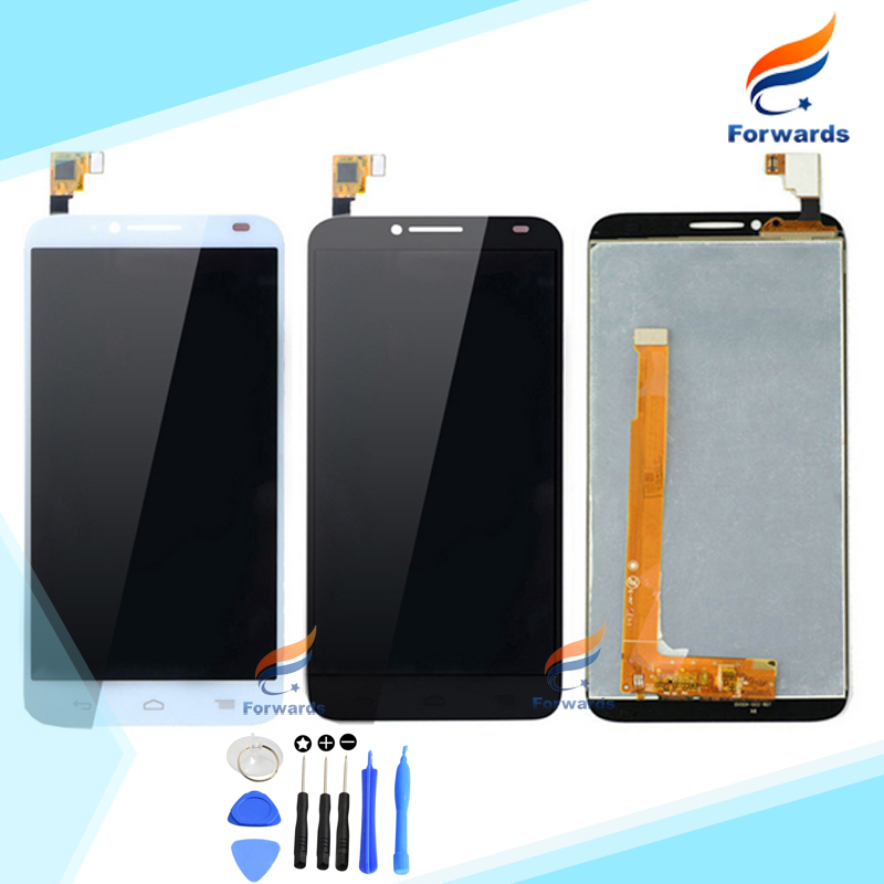 For Alcatel One Touch Idol 2 OT6037 6037 6037Y LCD Screen Display with Touch Digitizer Assembly 5 inches one piece free shipping