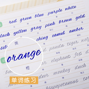 Image 5 - Newest English copybook hand writing round hand groove training copy English Alphabet words letters auto fades can be reused