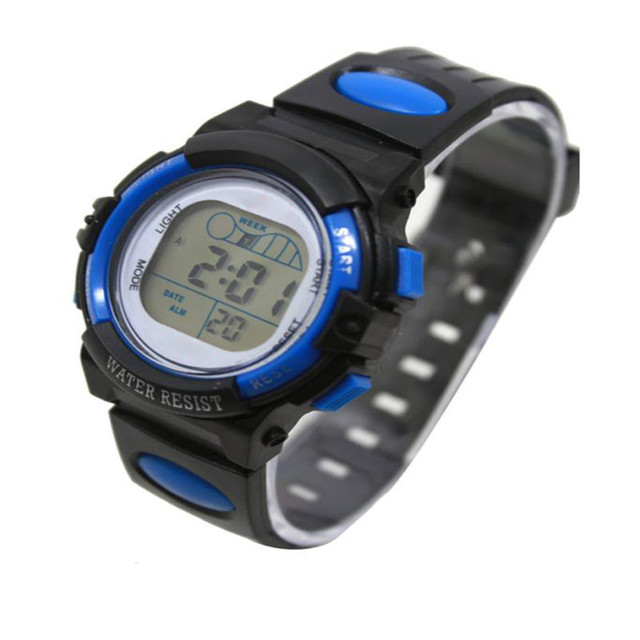Perfect Gift Fashion Girl Boy LED Light Wrist Watch Alarm Date Digital Multifunc