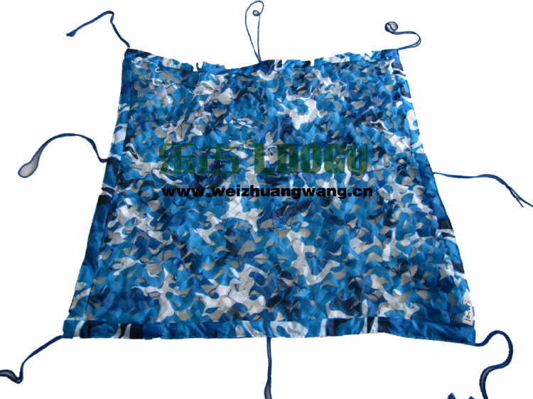 2.5M*5M filet camouflage netting blue camo netting for outdoor gazebo canopy construction garden pavilion tent roof car tent