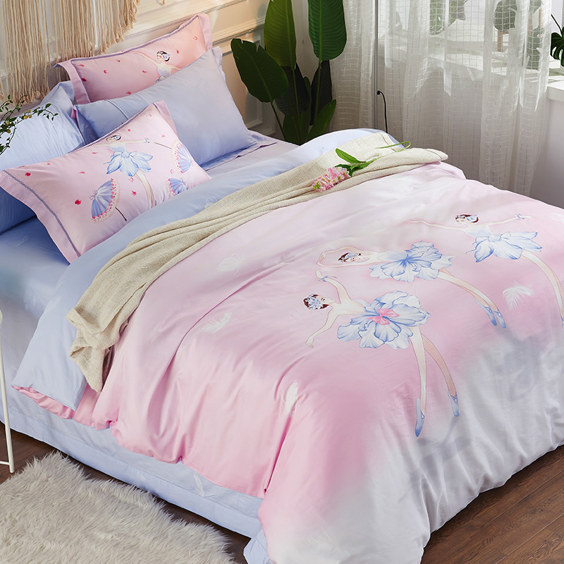Ballet Girls Skirt Kids Children Bedding set 4Pcs Queen Twin size Fit sheet Bed sheet set Duvet/Quilt Cover Pillow RUIYEE brand